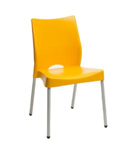 Silla naranja base gris Cod.1304